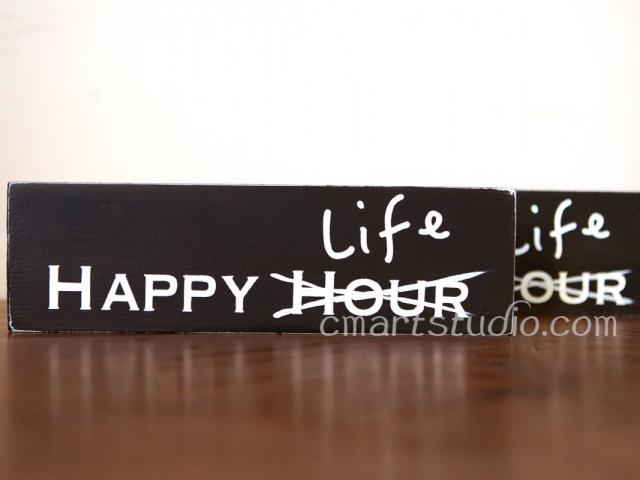 handmade wood block sign