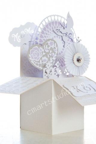 handmade box wedding card